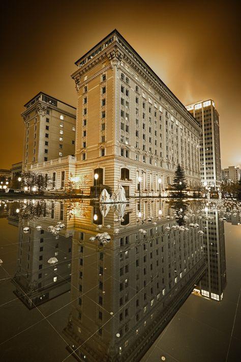 Joseph Smith Memorial Building in Salt Lake City. Was Hotel Utah.