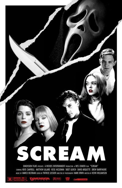 Scream Design Two 11x17 Movie Poster   Etsy
