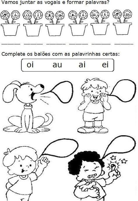 Alegria De Aprender Na Educacao Infantil Encontro Vocalico