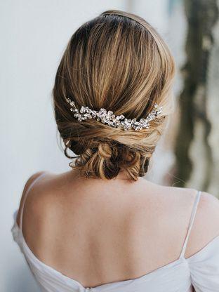 The Addison Rhinestone and Crystal Bridal Headband Silver
