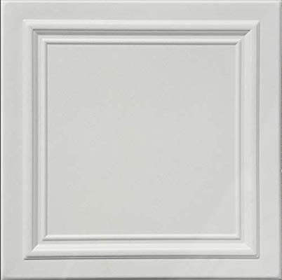Zeta White Foam Ceiling Tile 100pc