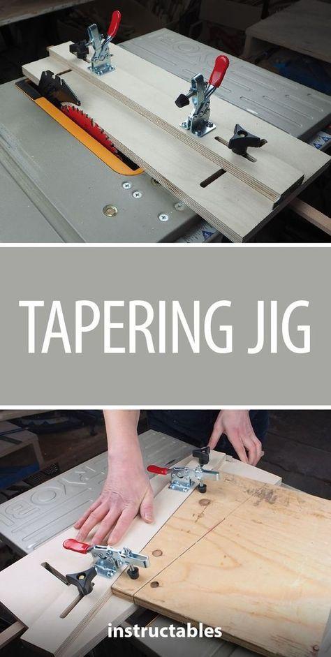 Tapering Jig Holzbearbeitungs Projekte Holzarbeitstisch Holzbearbeitung Werkbank