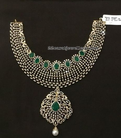 Affordable Heavy Look Diamond Necklaces By Sbj Diamond Necklace