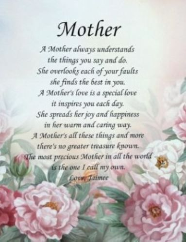 Happy Mothers day Poems from Daughter & Son to Mom 2017 ...