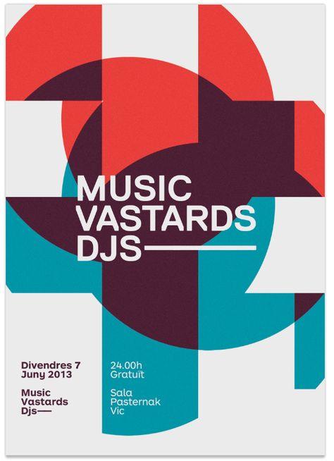 Music Vastards Poster by Quim Design