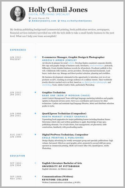 E Publishing | Resume design, Graphic design resume, Resume ...