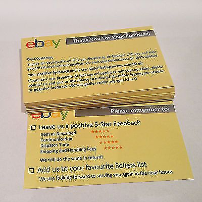 1600 Pcs Thank You For Your Ebay Purchase Seller Notes Card Printing Label Printing Labels Printed Cards Note Cards