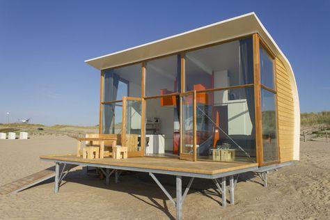 Strandhuisjes Niederlande - übernachten am Meer