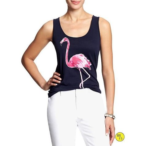 Banana Republic Factory Rio Graphic Tank - Flamingo