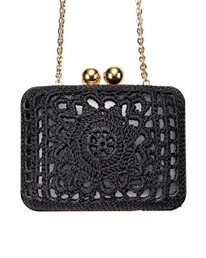 Dolce & Gabbana Black Bag with Brass Accents - looks great for a night out on the town