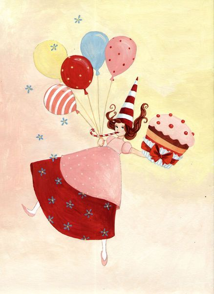 """""""Happy Birthday"""" Graphic/Illustration by Denitza Gruber buy now as poster, art print and greeting card.."""
