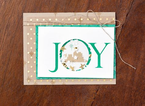 Use the Joyful Nativity stamp set and the new Foam Adhesive Strips to make interactive shaker cards this Christmas season! #stampinup
