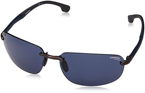 cd6d4b55f36c Carrera 4010/S Sunglasses CA4010S-0R80-KU-6216 - Semi Matte Dark Ruthenium  Frame Blue Avio