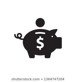 Piggy Bank Icon Vector Account Animal Background Bank Banking Piggy Bank Icon Money Cartoon Piggy Bank