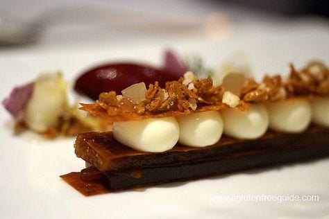 The Fat Duck Restaurant Menu Gluten Free (78) Taffety Tart (c. 1660) Caramelized Apple, Fennel Rose and Candied Lemon