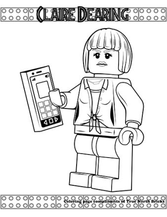 Jurassic World Dr Wu Giveaway True North Bricks Lego Coloring Pages Lego Coloring Jurassic World