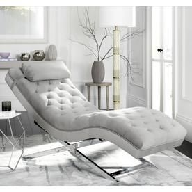Safavieh Monroe Modern Gray Chaise Lounge Fox6286c Chaise Lounge