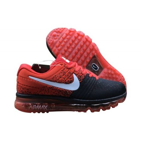 info for 1b51a ecf96 Herr Nike Air Max 2017 Flyknit Svart Rod For Sale