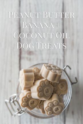 Peanut Butter Banana Coconut Oil Dog Treats Recipe Coconut