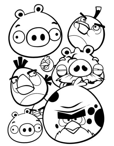 Angry Birds Coloring Pages Bird Coloring Pages Coloring Pages Dream Catcher Coloring Pages