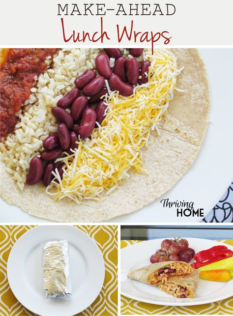 Make Ahead Lunch Wraps are a cheap, easy, and healthy grab-and-go meal. Throw them together on Sunday and eat them all week! Great for lunch boxes.