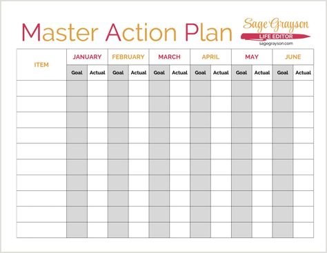 The Elephant In The Room And Your Goals Action Plan  Free