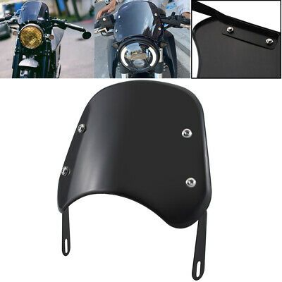 Advertisement Ebay Black Universal 5 7 Inch Headlights Motorcycle Windscreen Windshield For Honda In 2020 Windshield Honda Ebay