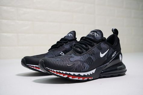 A Bathing APE x Nike Air Max 270 Japanese Camo Bape Camo Black Grey Mens  Wmns Size AH6799 012 a030e0de2