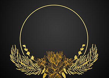 Tekstur Emas Hitam Latar Belakang Perbatasan Bunga Bulat Bingkai Latar Belakang Emas Hitam Tekstur Gambar Latar Belakang Untuk Unduhan Gratis In 2021 Floral Background Poster Background Design Gold Texture