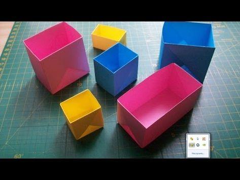Silent Origami Tutorial: Triangular Pyramid - YouTube | 355x473