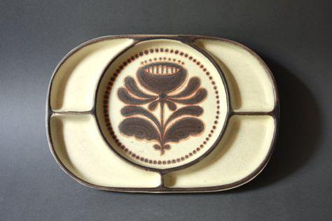 Vintage West German Pottery Fondue Plate by by GoGoBerlinette.