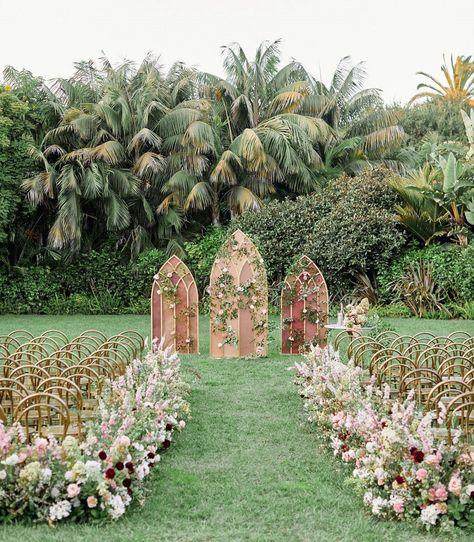 Oak  the Owl Best Florists in Santa Barbara | Wedding Chicks #weddingceremony #aisle #weddingdecor