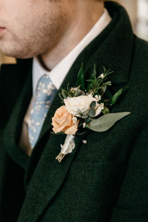 Spring Wedding | Forest Green Wedding Suit | Groom Style | Groom Attire | Wedding Details | Utah Wedding Photographer | Salt Lake City Wedding Photography #springwedding #springweddingideas #groomstyle #greensuit #groomattire #weddingboutonniere #groom #weddingphotography #weddingdetails #spring wedding groom attire Spring Wedding Boutonniere | Forest Green Suit