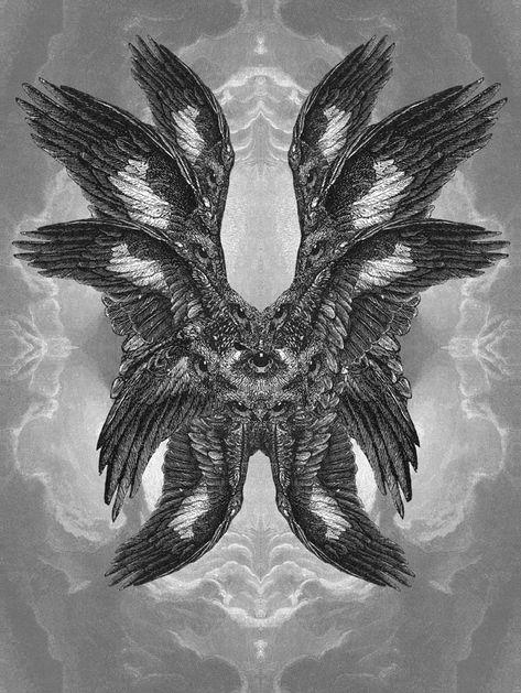 ~many waters~ Seraphim II / Dan Hillier / Sacred Geometry Tatoo Angel, Dan Hillier, Pop Art, Plakat Design, Arte Obscura, Occult Art, Biblical Art, Mystique, Arte Horror