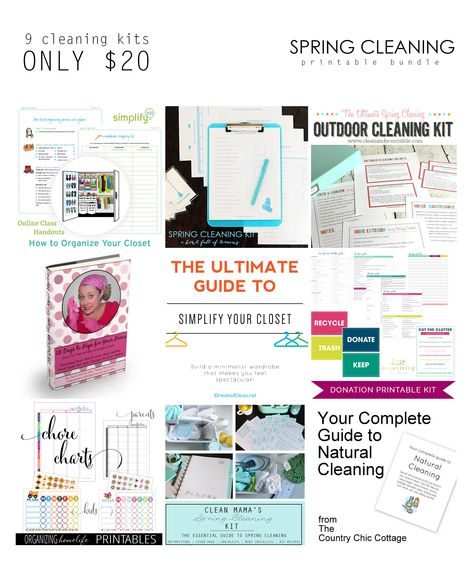Only a few hours left for this unique bundle sale!!  Get yours before it's too late.  9 great tools to help you declutter and clean your home... at any time of year!  All for 85% off.  That's 169 printable pages and a 9-session video series.  Something for everyone.  Sale ends at midnight tonight (ET).  Get your bundle here: http://fromoverwhelmedtoorganized.blogspot.ca/2015/02/spring-cleaning-bundle.html