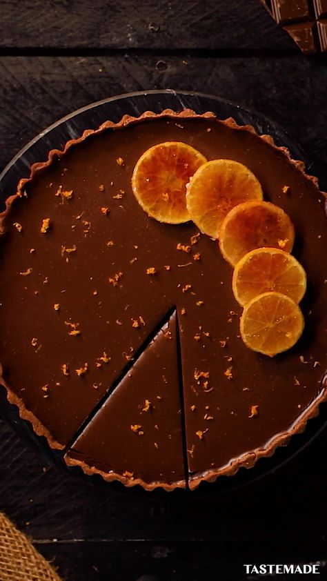 Perfect for a dinner party or just because, this chocolate and clementine tart is sure to impress