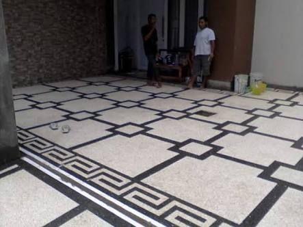 Jasa Pembuatan Batu Lantai Carport Batu Sikat Di Gresik Salwa Alam Art Lantai Taman Kota Desain