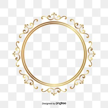 Frame Gold Circle Around A Circle The Circle Frame Around A Circle Gold Png And Vector With Transparent Background For Free Download Gold Circle Frames Frame Border Design Circle Frames