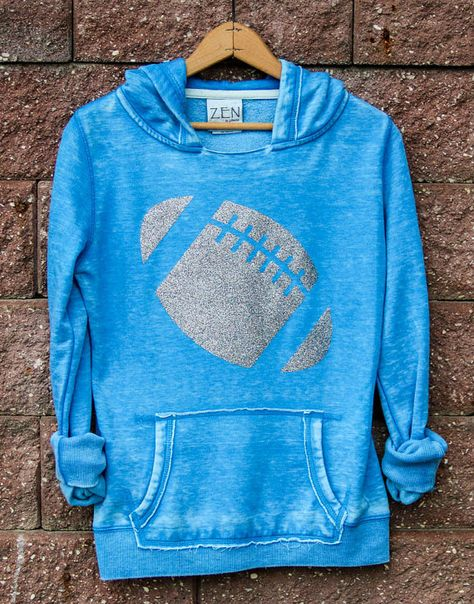 Football Girly Pullover Hoodie Sweatshirt Women's by