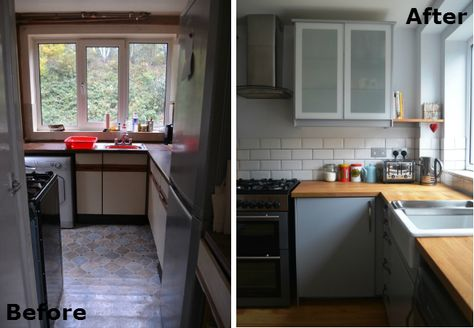 70s Kitchen Makeover - Before & After | Cheap kitchen ...