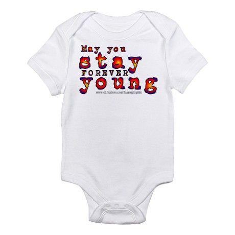 4a72be0d3 Forever Young-Multi/Bob Dylan Infant Bodysuit on CafePress.com ...