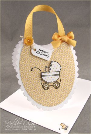 Bitty Baby Blessings Bib Card - Thinking Inking