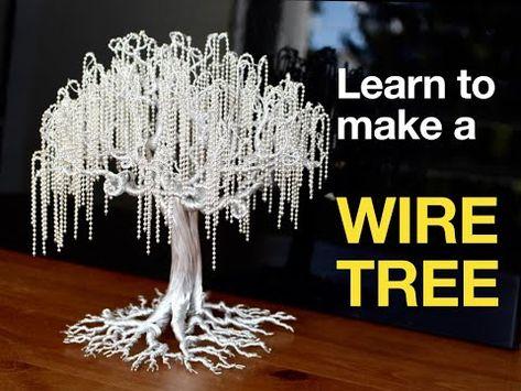 Wire Art Sculpture, Tree Sculpture, Wire Sculptures, Beaded Crafts, Wire Crafts, Copper Wire Art, Wire Trees, Diy Crafts Hacks, Handmade Wire