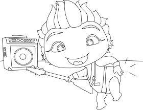 Desenhos Da Lulu Mini Beat Power Rockers Para Colorir