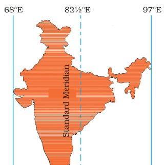 Indian Standard Time | International date line, India world map, Longitude