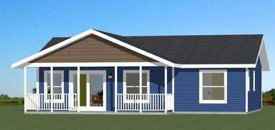 Building Size 36 0 Wide 30 0 Deep Including Porch Floor Ceiling Framing Plan Roof Framing Plan Main Roof Floor Plans Small House Plans House Plans
