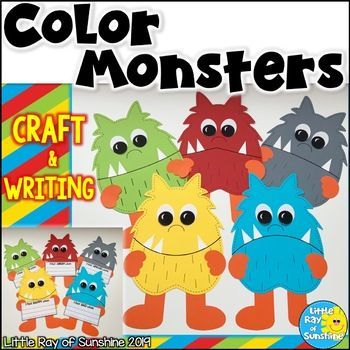 Color Monster Craft With Writing Monster Craft Monster Crafts Crafts