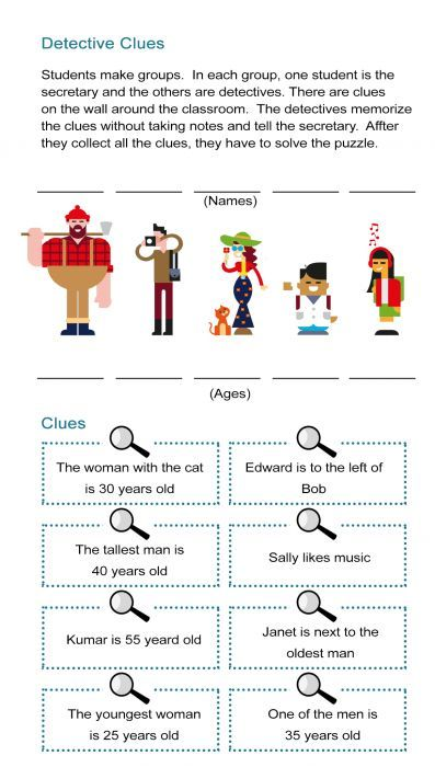 7 Detective Activities To Find Clues And Solve Riddles Like Sherlock Holmes All Esl Mystery Games For Kids Riddles To Solve How To Memorize Things
