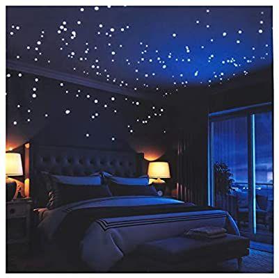 Pegatinas De Pared Que Brillan En La Oscuridad 252 Puntos Adhesivos Y Luna Para Cielo Estrella In 2020 Aesthetic Bedroom Galaxy Bedroom Fall Bedroom Decor