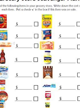 Empowered By Them Grocery Shopping Scavenger Hunt Money Management How To Raise Money Saving Money Frugal Living